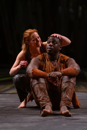 Lucy Phelps and David Ajao in As You Like It.