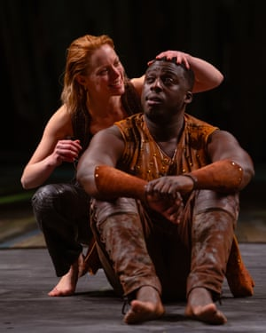 Epitome of young love ... Lucy Phelps and David Ajao in As You Like It.