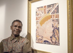Titus Nganjmirra won the emerging artist award at this year's Naatsias.