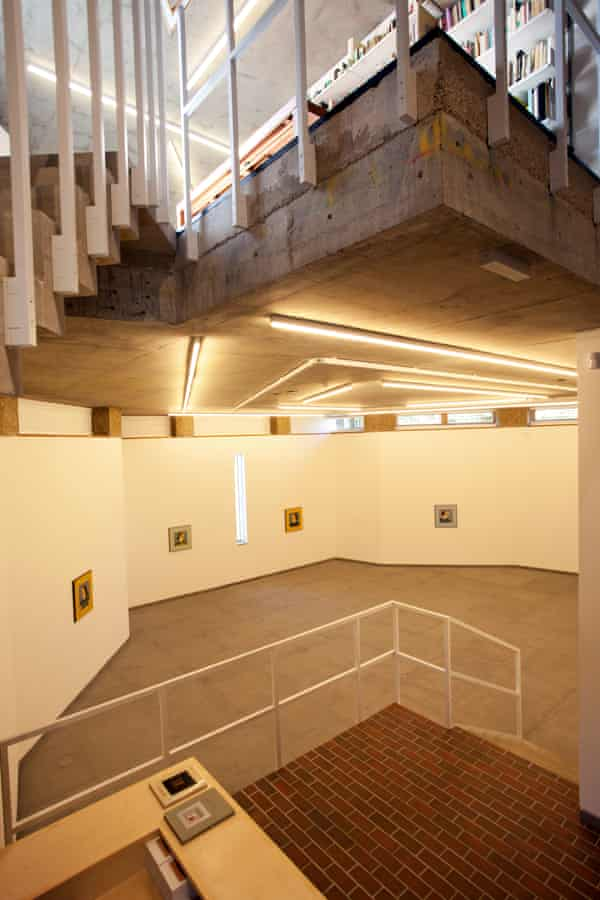 The interior of Vauxhall's Cabinet Gallery: 'a freestanding pavilion with a certain lightness of heart… expressed in an unexpectedly rugged concrete stairwell'