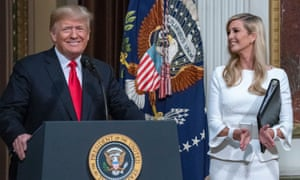 Donald Trump with Ivanka earlier this month. The first daughter insisted she would not replace Haley.