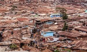 Kibera, a suburb in Nairobi, Kenya.