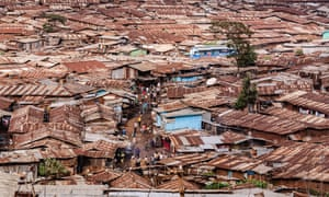 A view of Soweto and Lindi, suburbs of Nairobi belonging to Kibera, the largest urban slum in Africa