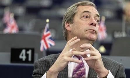Nigel Farage in the European parliament.