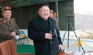 Kim Jong-un at a North Korean army competition in Pyongyang