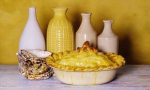 Beefsteak, kidney and oyster pie.