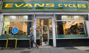 Overview of the Evans Bicycle Store in Vauxhall Bridge Road, London.