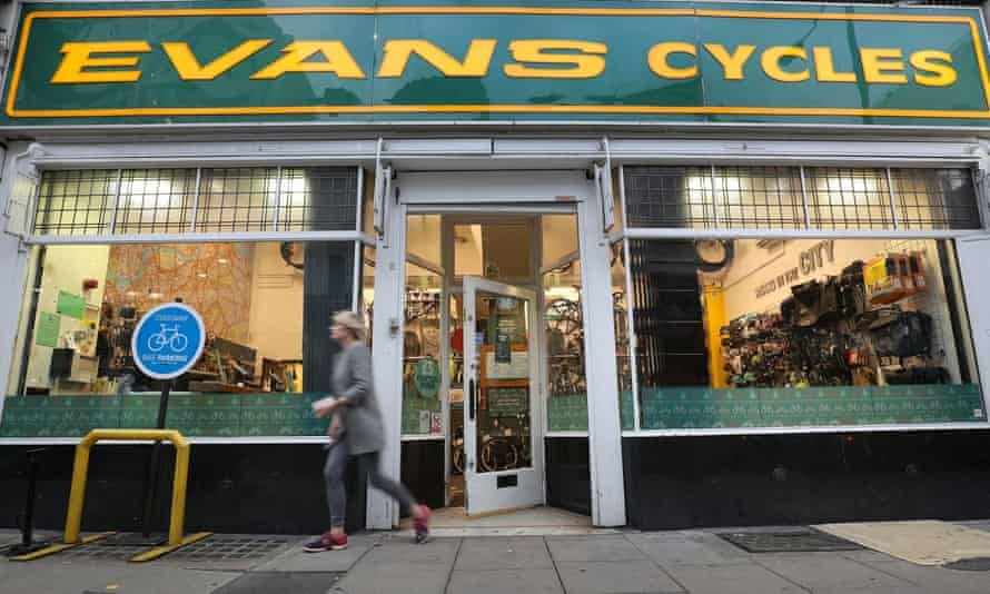 General view of an Evans Cycles store in Vauxhall Bridge Road, London.