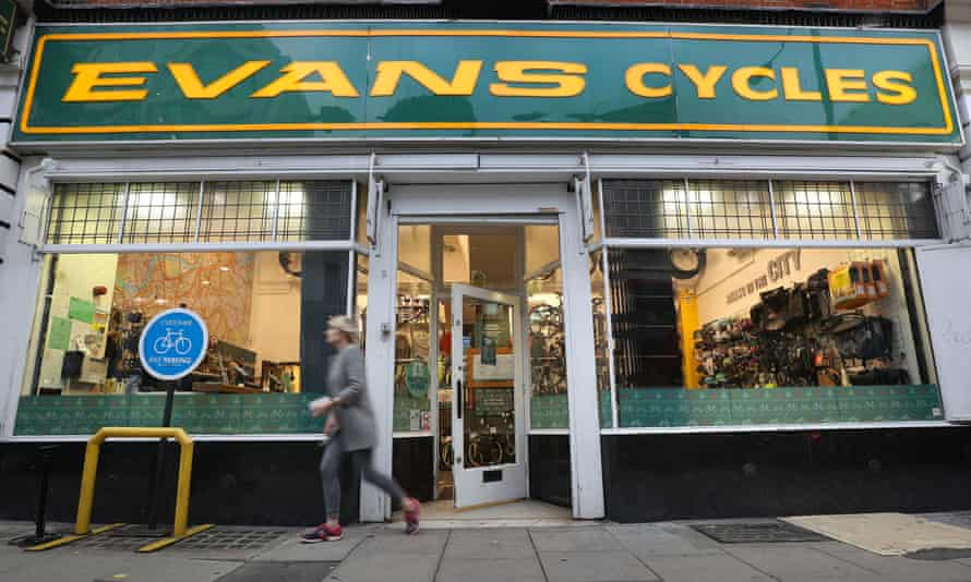 An Evans Cycles store in Vauxhall, London.