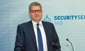 Andrew Parker, head of MI5