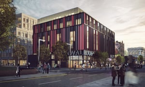 An architect's drawing of the proposed new Ovalhouse site in Brixton.