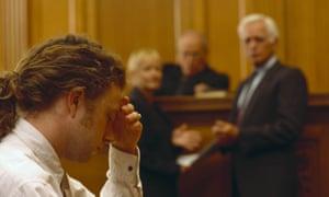 Defendant in courtroom