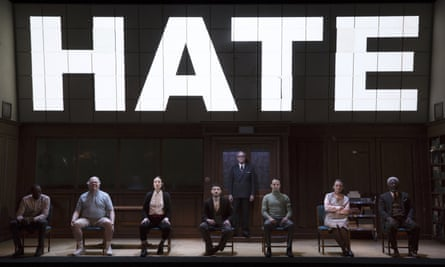 a scene from the 2017 Broadway adaptation of Nineteen Eighty-Four.