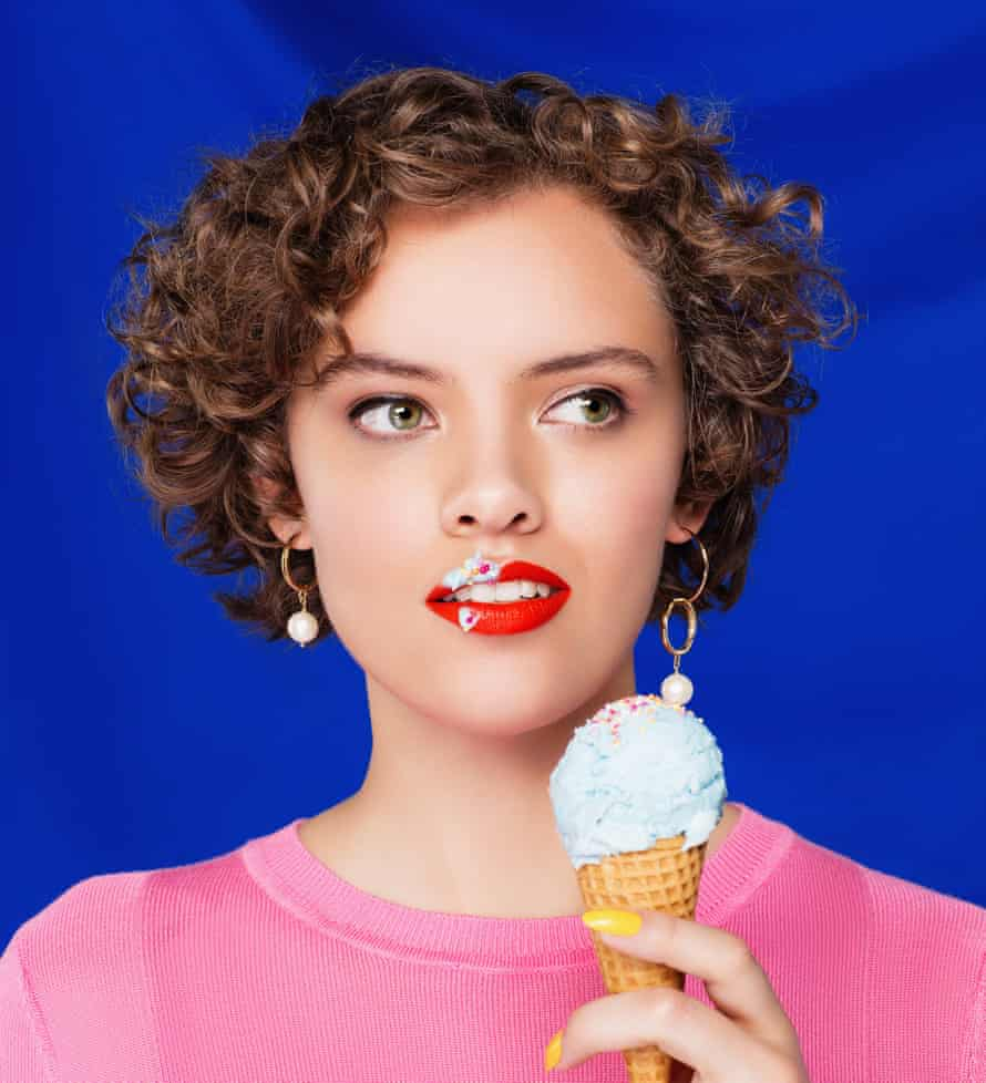Cook and food writer Ruby Tandoh eating an ice-cream
