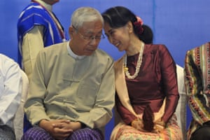Myanmar's outgoing president Htin Kyaw and state counsellor Aung San Suu Kyi have been friends since childhood.