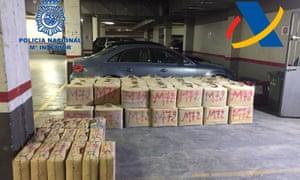 Hashish seized by police during an anti-drug operation in Cádiz and Málaga