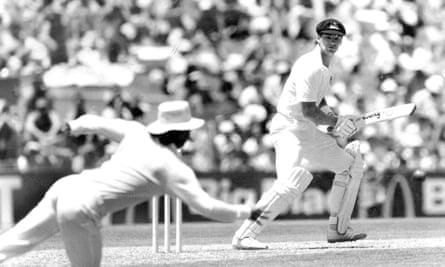 Dean Jones in action against England in 1987.