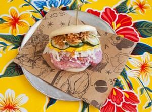 'Essentially a Reuben sandwich with new tailoring': salt beef and sauerkraut bao.