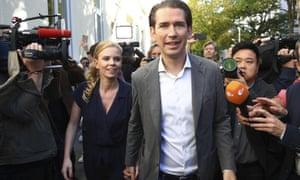 Sebastian Kurz and his girlfriend, Susanne Thier