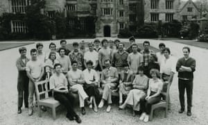 John Makepeace, centre, and the first intake of Parnham College students.