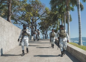 Mexico; Guerrero; Acapulco; 2020 National Guard, a new security force created in 2019. The National Guard, the new security force that the Mexican goverment wants to deal with the serious problem of lack of security, formally began its operations on June 30. In Guerrero, 3,400 Guard officers will be deployed at first and they have already started being transferred to the cities of Chilpancingo, Tlapa, Ciudad Altamirano and Ayutla.
