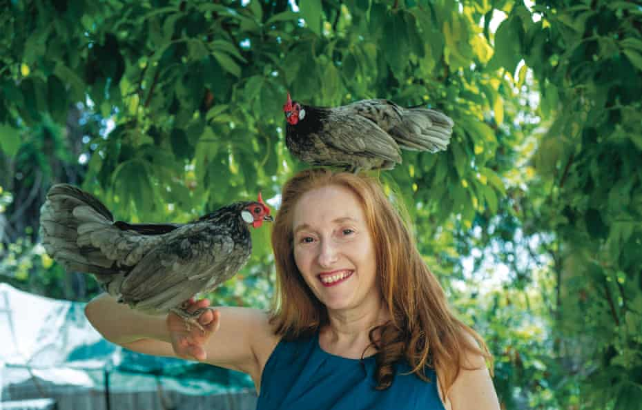 This Chicken Life author Fiona Scott-Norman with two of her chickens.