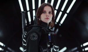 Rebel woman ... Felicity Jones as Jyn Erso in Rogue One: A Star Wars Story