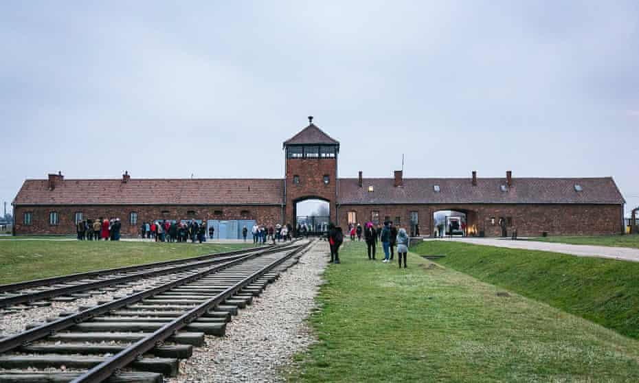 Students at Auschwitz-Birkenau