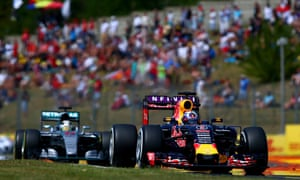 Daniel Ricciardo, right, and Lewis Hamilton, left, have Rosberg in their sights.