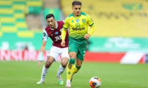 Max Aarons, who has attracted interest from Barcelona, made 36 Premier League appearances for Norwich last season.