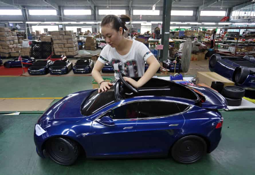 Toy car factory in China