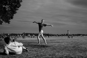 Dancer in the parkYou see the strangest things at the park that used to be Tempelhof Airport, Berlin Photograph: Gileswbennett/GuardianWitness