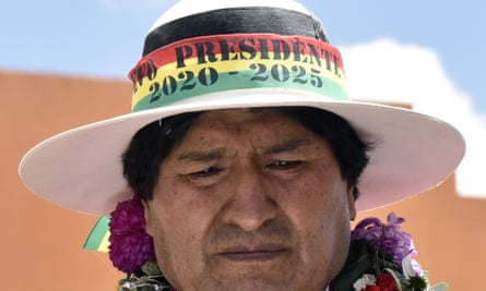 Evo Morales. Bolivia, along with Nicaragua, is now the only presidential democracy in the Americas to place no limits on re-election.