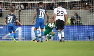 Simon Mignolet saves a penalty from Andrej Kramaric in Liverpool's win at  Hoffenheim