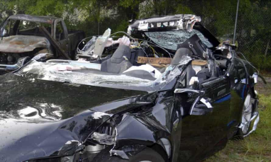 The Tesla Model S that was being driven by Joshua Brown, who was killed when the Tesla sedan crashed while in Autopilot mode on 7 May 2016.