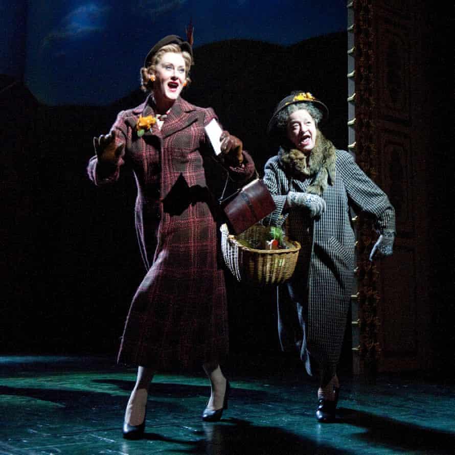 Sarah Lancashire as Joyce with Ann Emery as Mother Dear in Betty Blue Eyes.
