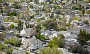 An affluent suburb of San Jose, California.
