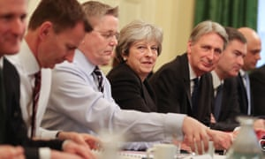 Theresa May's first cabinet meeting of the year on Tuesday.