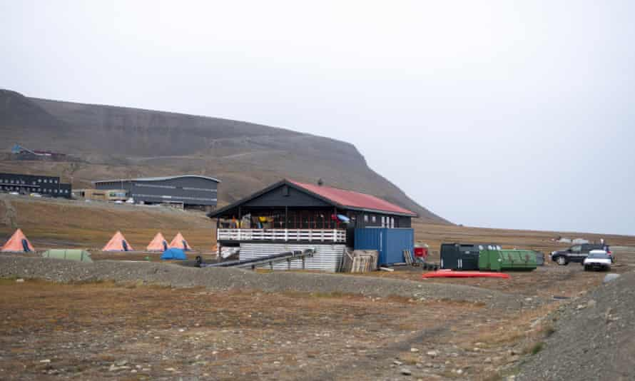 The campsite near Longyearbyen where the man was attacked.