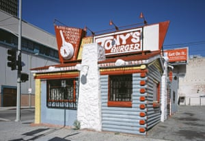 Built in 1931, this faux-log cabin is the oldest hamburger stand in downtown LA.