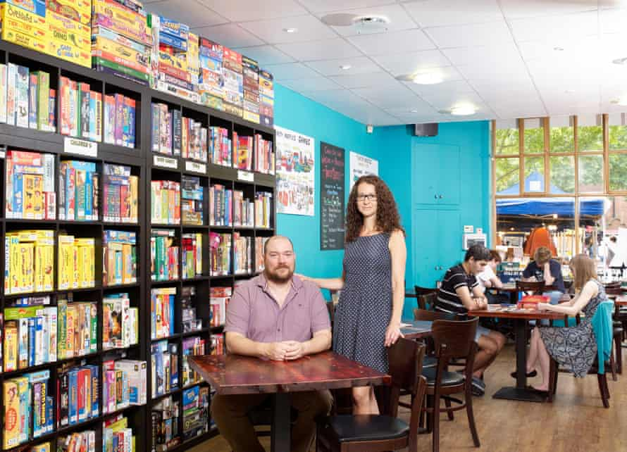 John and Zuzi Morgan, owners of Thirsty Meeples in Oxford
