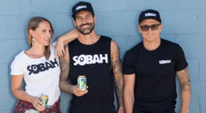 Campaign imagery for Sobah, a non-alcoholic craft beer