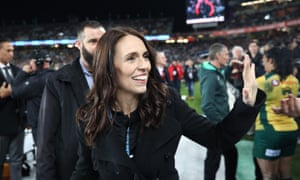 Ardern at an All Blacks-Australia game earlier this month.