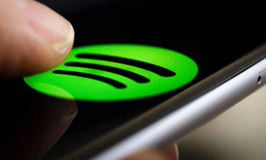 spotify logo on a smartphone