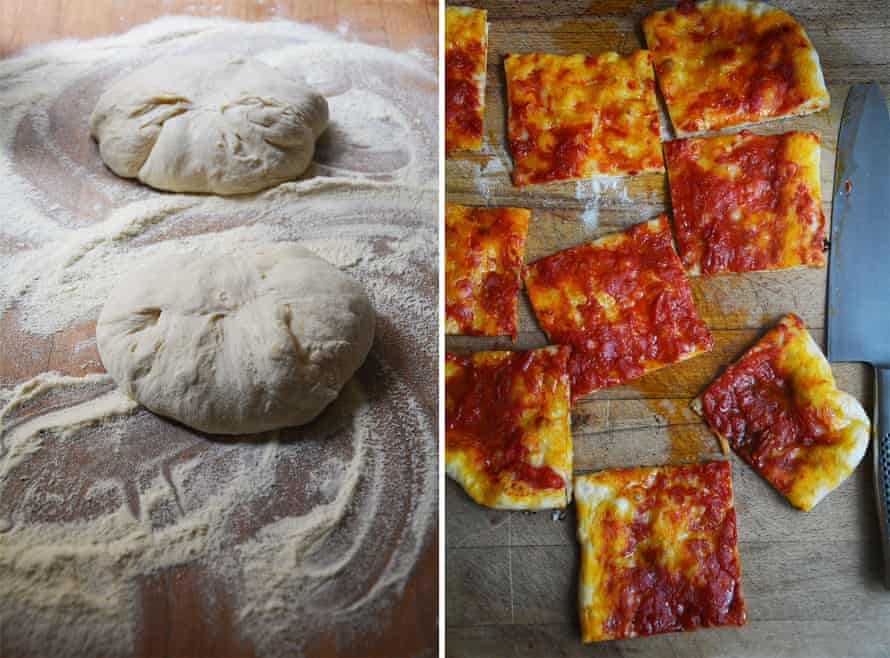 Rachel Roddy's pizza rossa alla Romana.