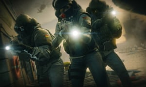 Attackers have guns trained on the camera in Rainbow Six: Siege.