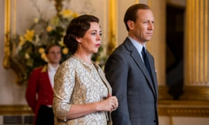Olivia Colman as the Queen and Tobias Menzies as Prince Philip