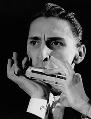 Ronald Chesney, harmonica player circa 1950.