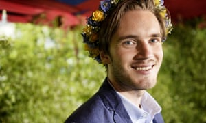 Swedish YouTube star and video game commentator Felix Kjellberg,otherwise known as PewDiePie. Kjellberg is estimated to have made $7.4m in 2014