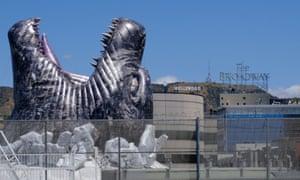 A giant Godzilla at the Cinerama Dome, Hollywood